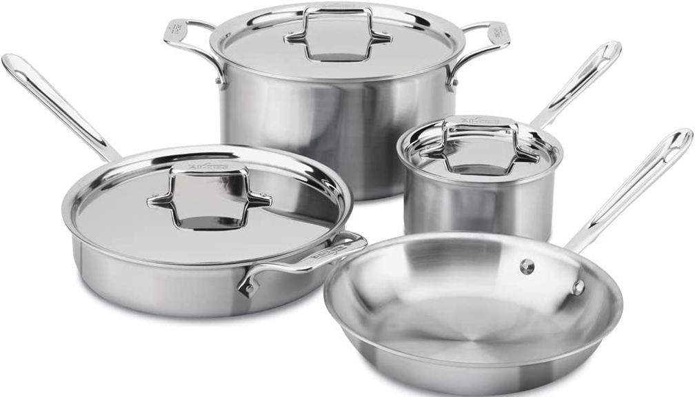 All-Clad D5 Cookware Set, 7-Piece