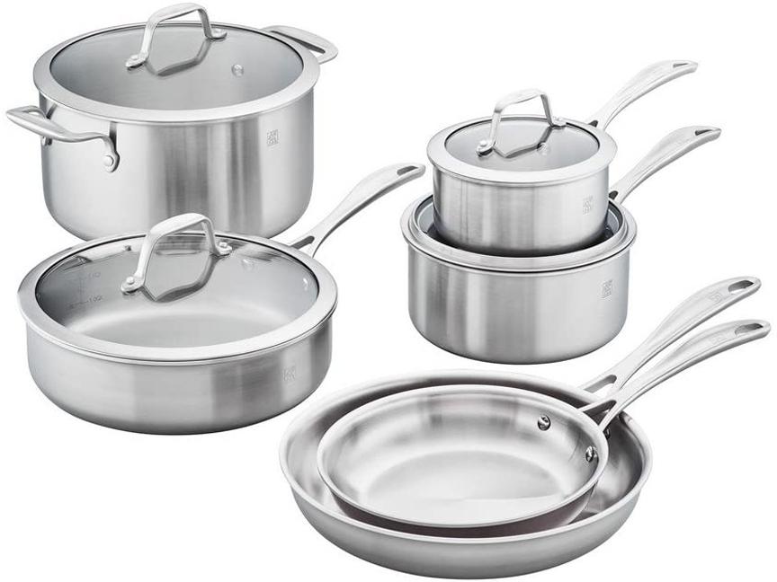 ZWILLING SPIRIT 3-ply Cookware Set, 10 Piece