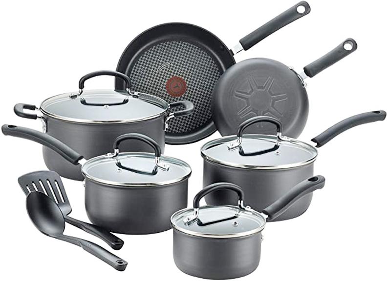 T-fal E765SC Cookware Set, 12 Piece