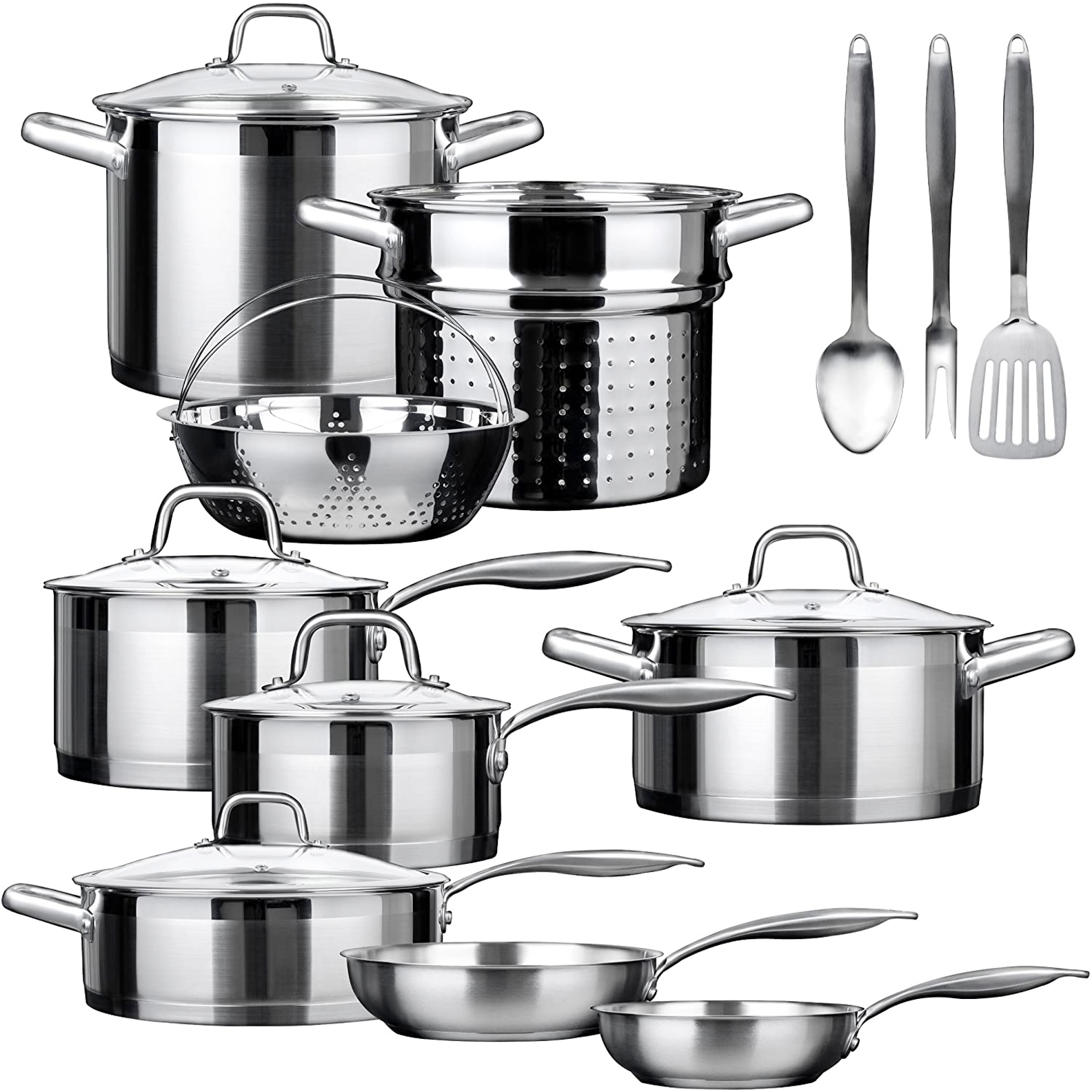 Duxtop Professional 17 Pieces Stainless Steel Induction Cookware Set,